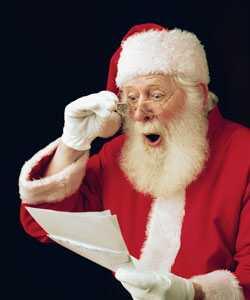 Santa jauki dāvanas par naughty cirtaini matu dienām
