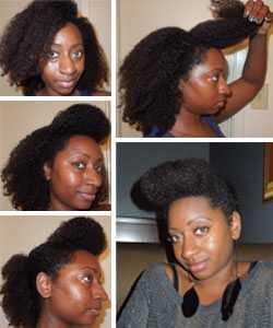 На bouffant фризура