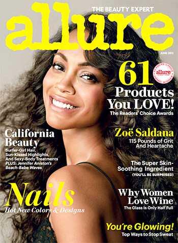 Zoe Saldana lasje pokrivajo lepoto