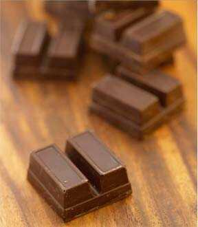 Obrišite kosu na prednosti čokolade