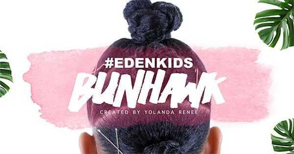 Eden kids penteado bunhawk para crianças encaracoladas