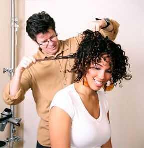 Podmrežite koncept laka za kosu
