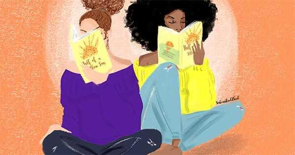 Природно кадрава книга клубот избор на месецот: Половина од жолто сонце
