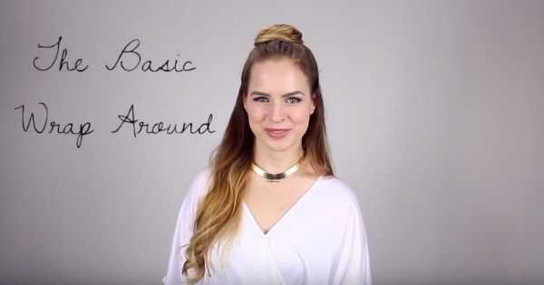 5 spôsobov, ako skĺznuť polovičný uzol na dlhé vlnité vlasy