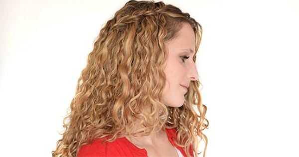 Hvordan man laver et vandfald Braid på krøllet hår