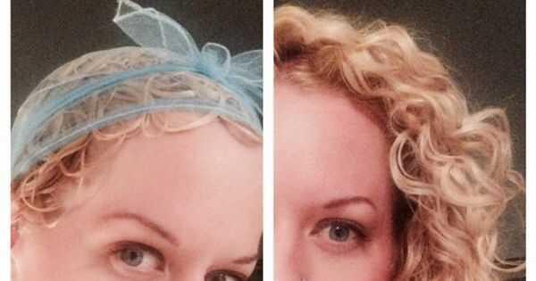 Kaip plaukuoti garbanotieji plaukai su Veilio tinklu