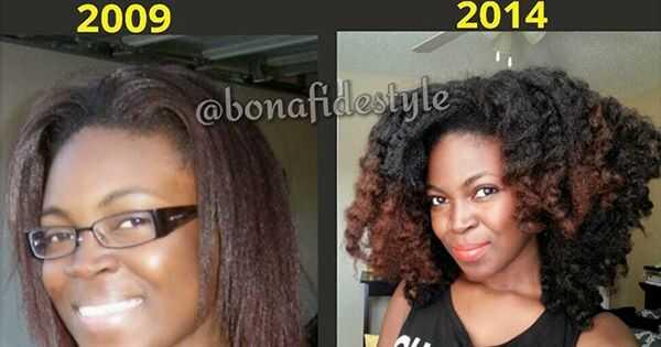 4 års naturlig hårvekst
