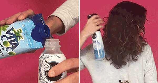 Você pode colocar água de coco em seu cabelo?