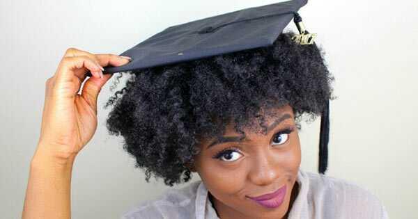 Дипломирање капа против природна коса
